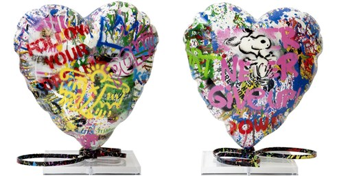 Balloon Heart by Mr. Brainwash - Mixed Media Sculpture